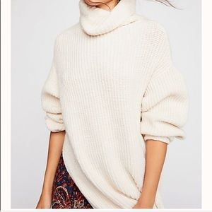 Free People Eleven Chunky Knit Cowl Neck Sweater